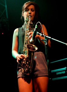 Sax Player Niamh White & DJ for hire in Ireland with www.audionetworks.ie